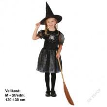 Dětský karnevalový kostým ČARODĚJKA PAVOUČÍ KRÁLOVNA 120 - 130CM ( 5 - 9 let )